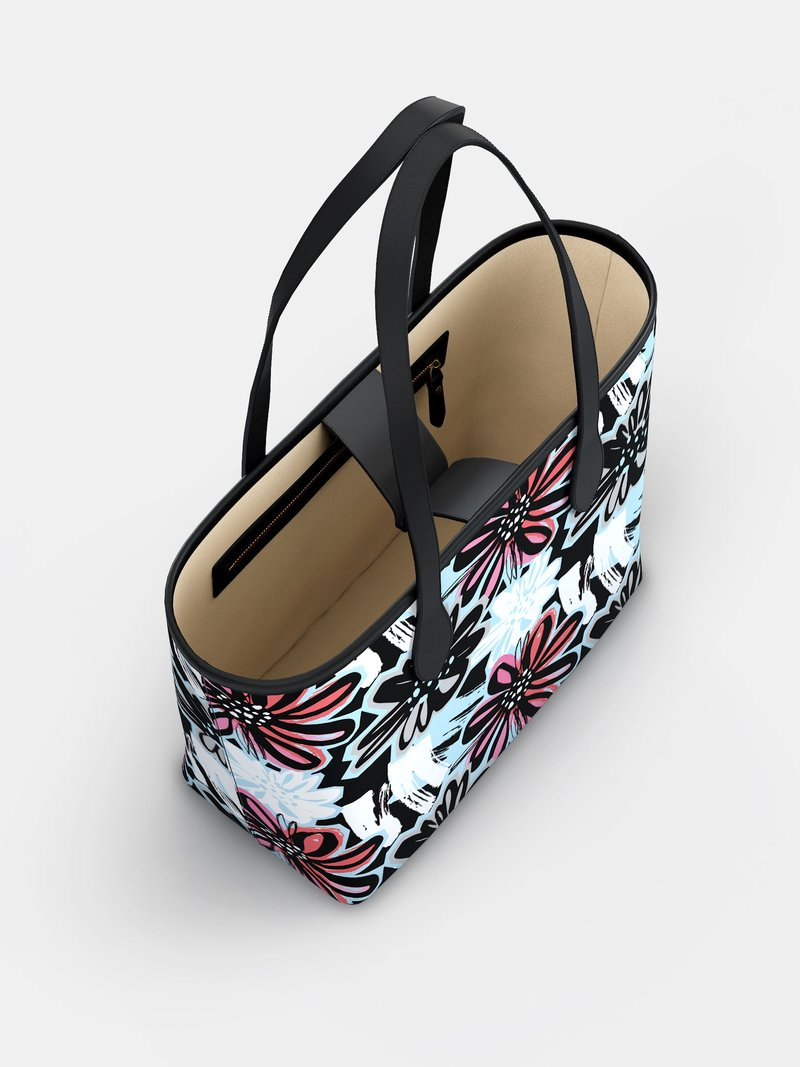 Custom leather City Tote Bag