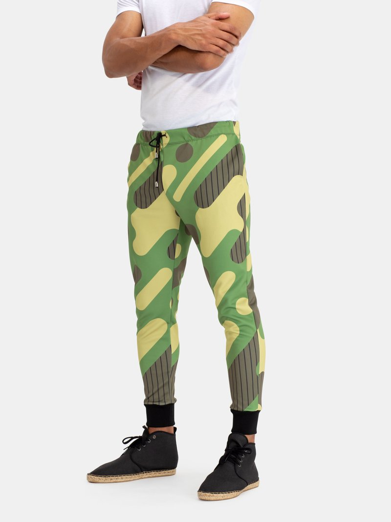 Impression sur pantalon de jogging recto et verso