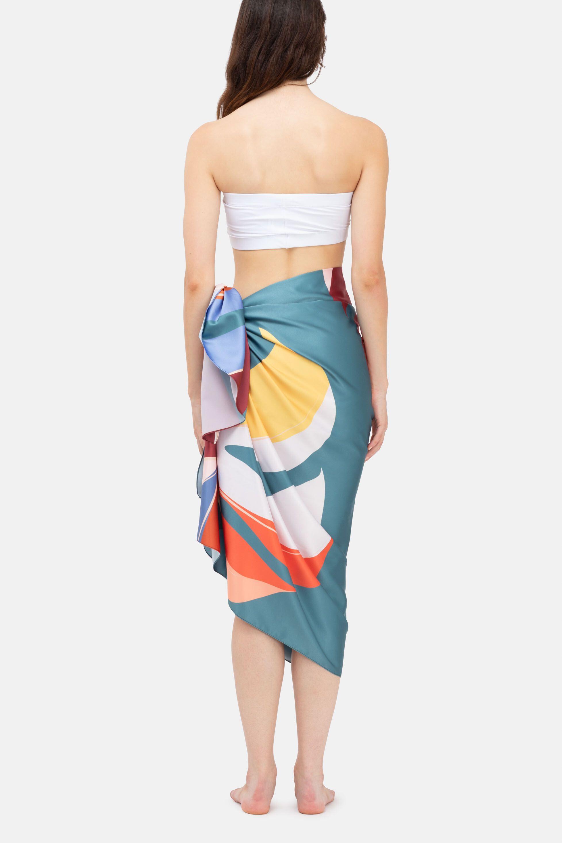 personalised womens beach sarong skirt