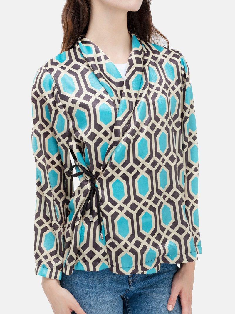 customised printed wrap blazer