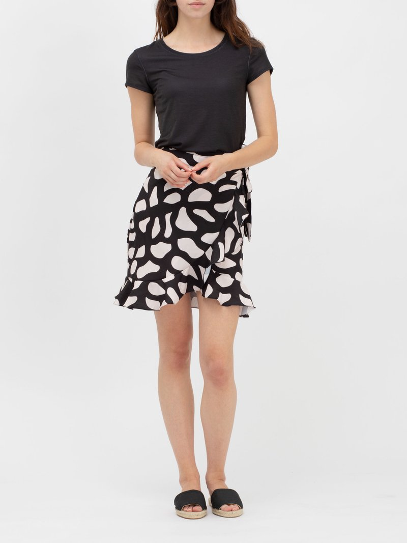 custom printed skirt with flounce hem