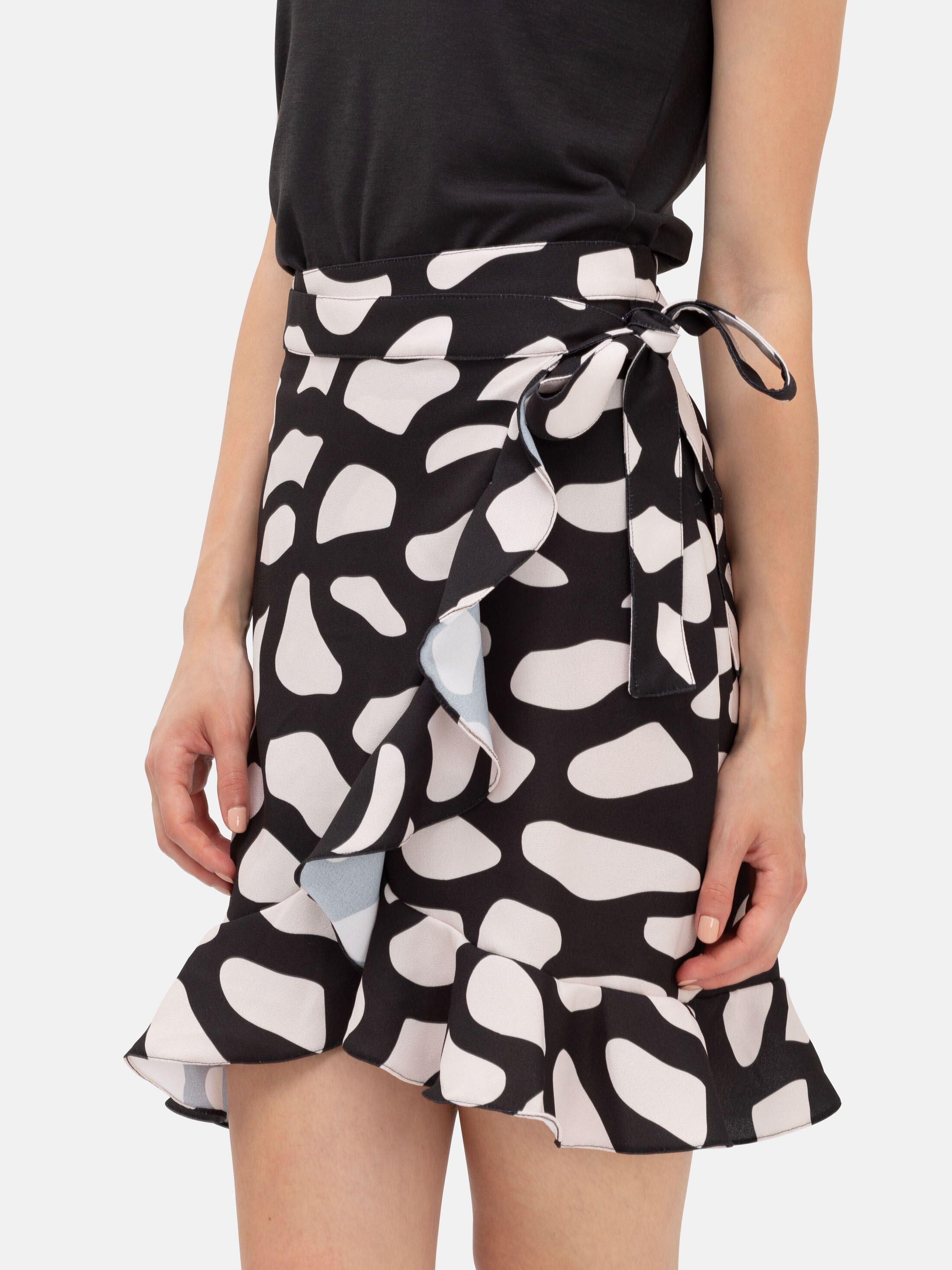 custom ruffle hem skirt