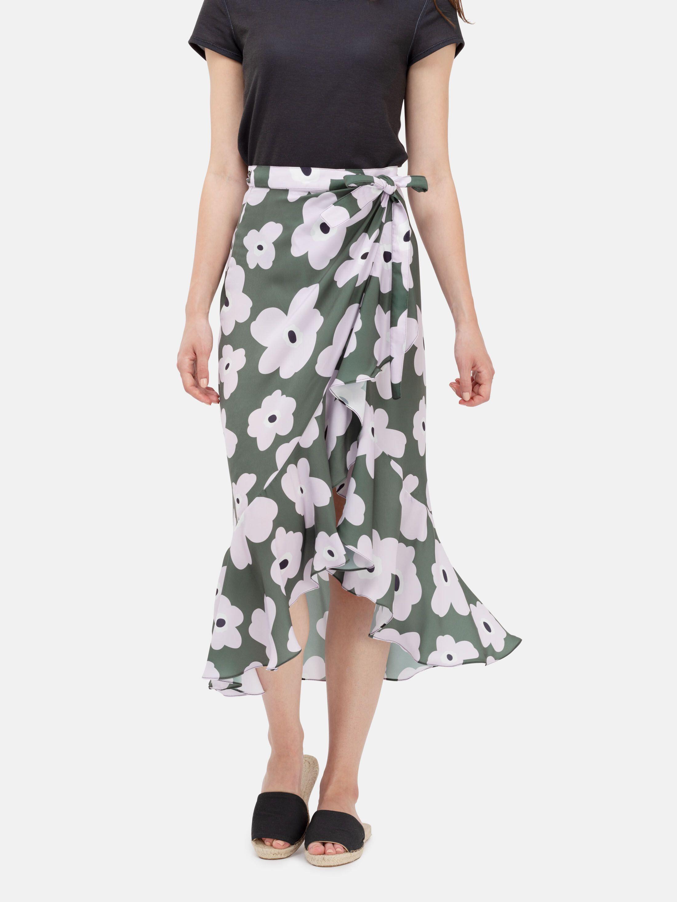 フラウンススカートにデザイン印刷