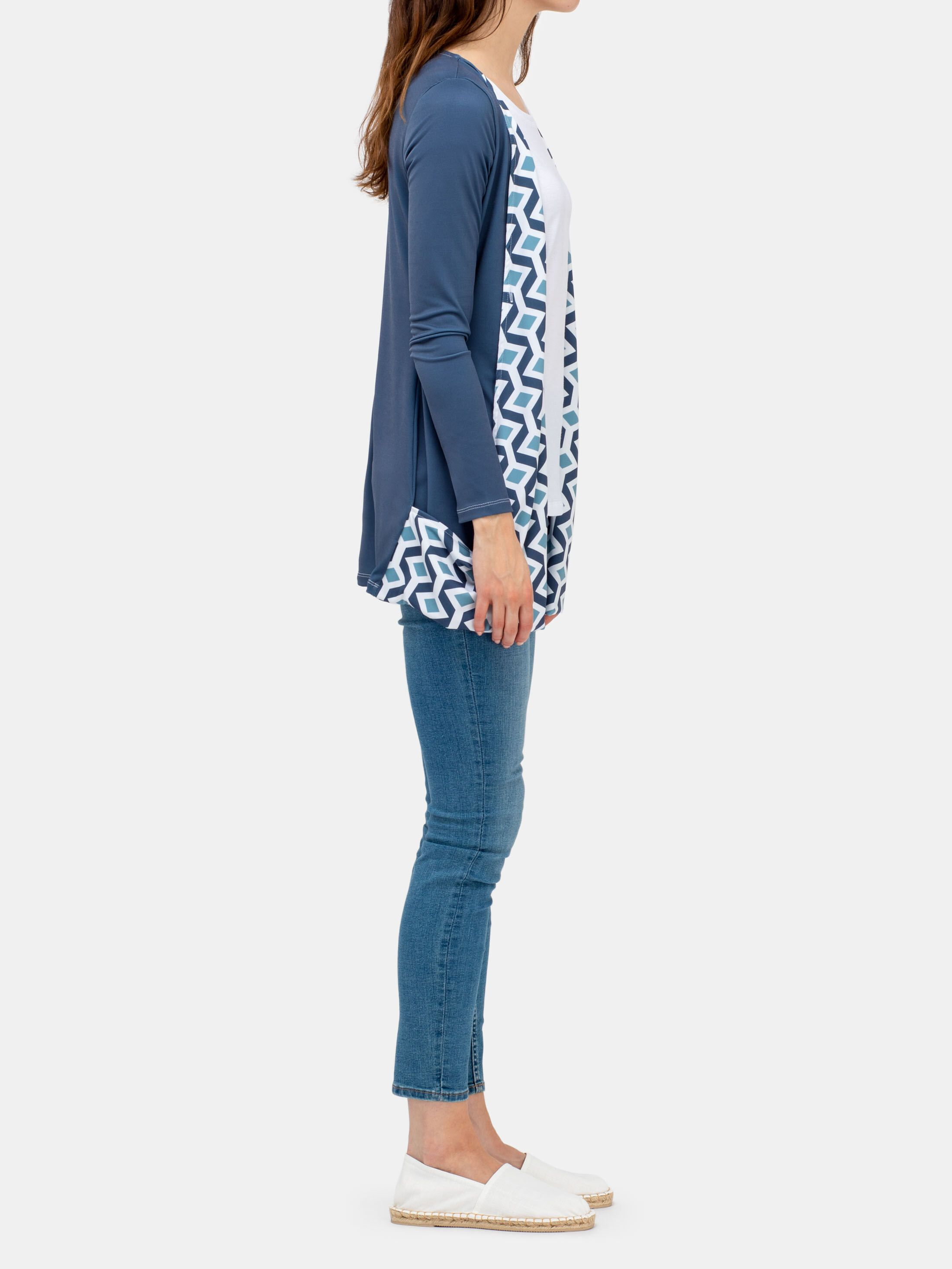 long sleeve waterfall cardigan custom printed
