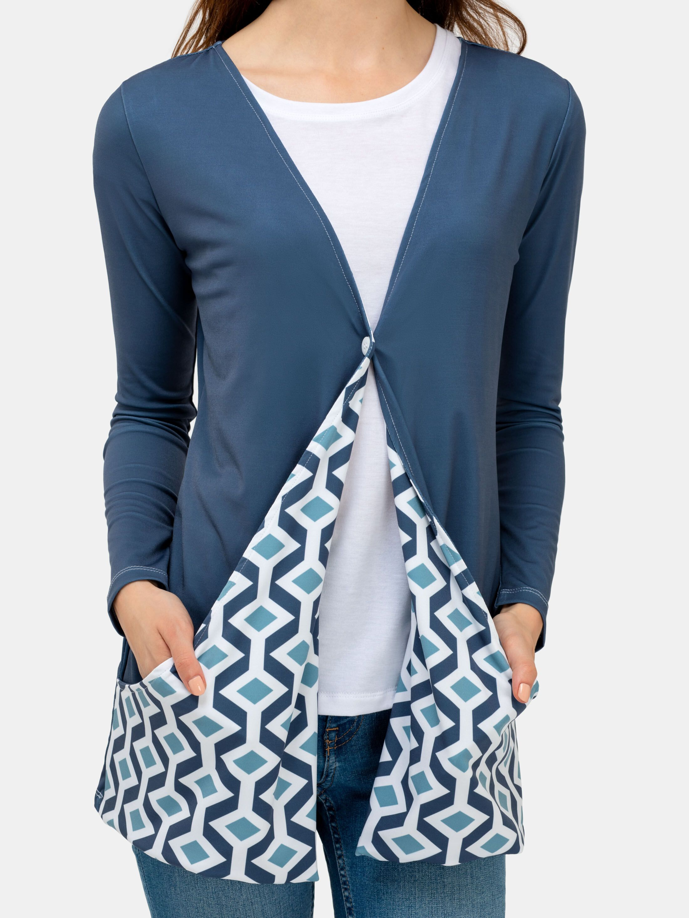 custom ladies cardigan with pockets