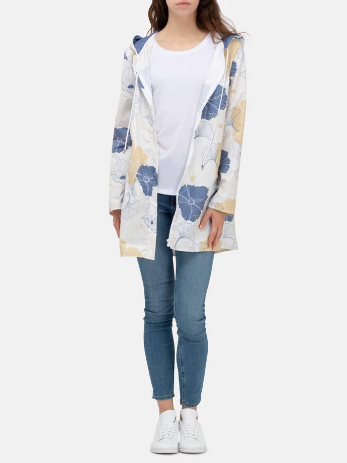 custom womens hooded rain mac