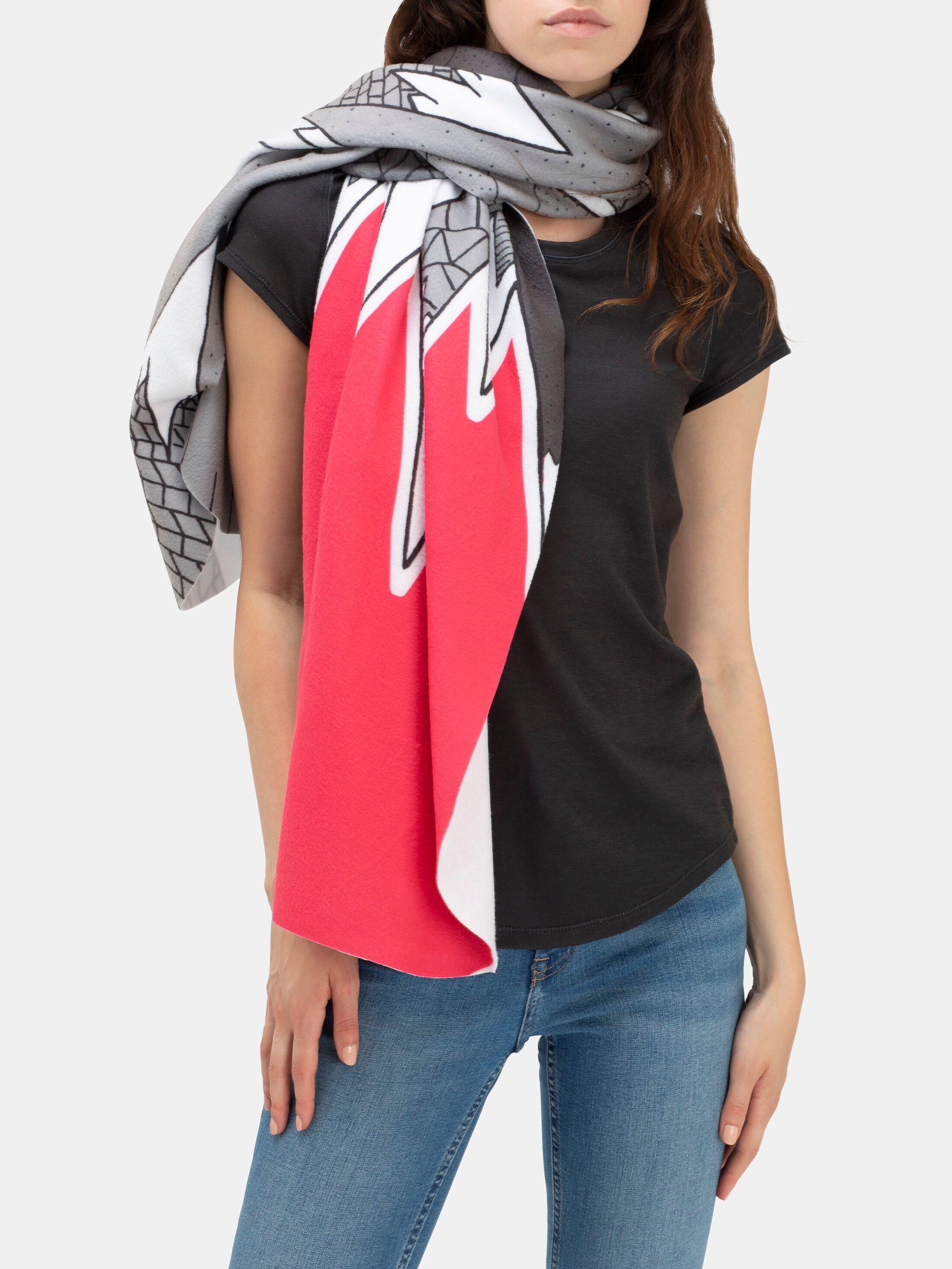 custom blanket scarf orange