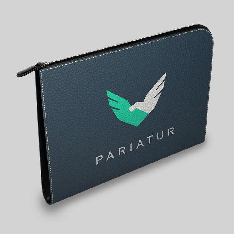 personalized leather portfolio logo