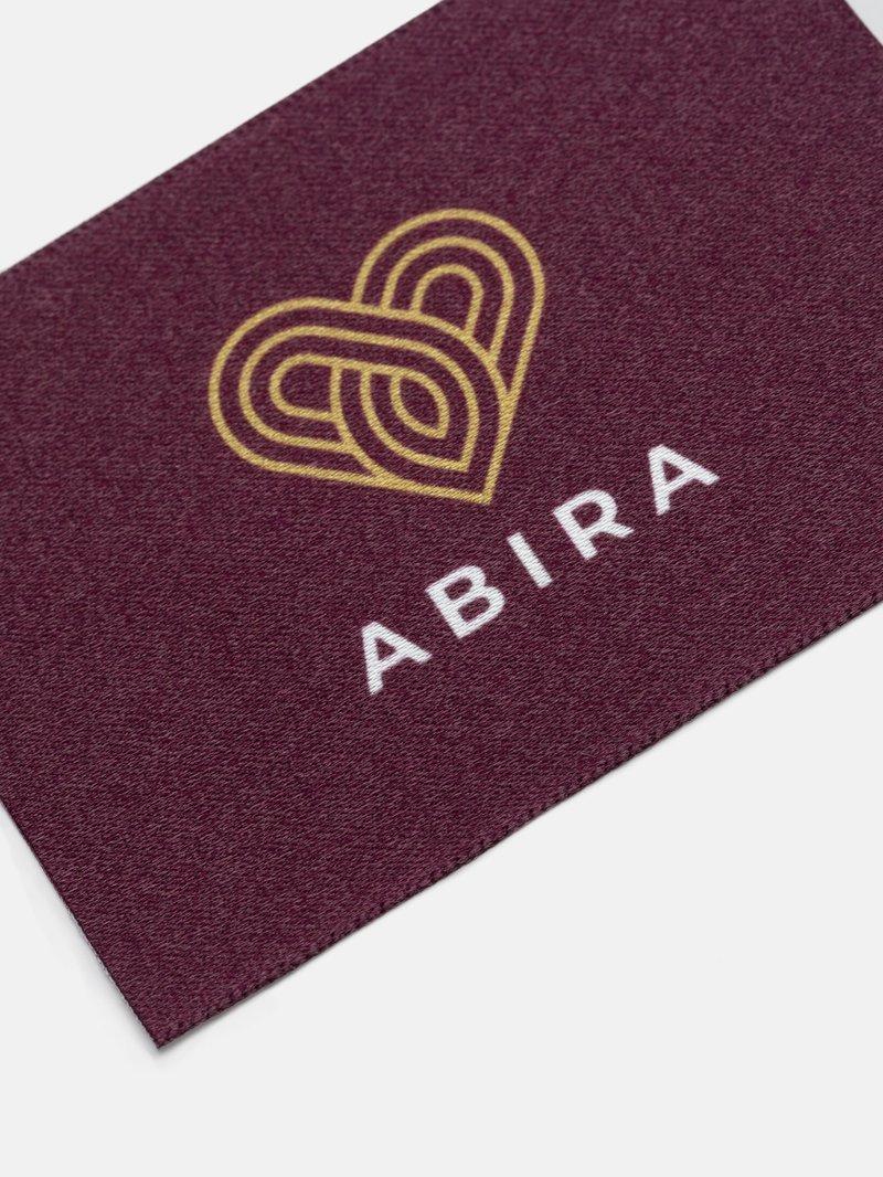 custom fabric logo labels close up