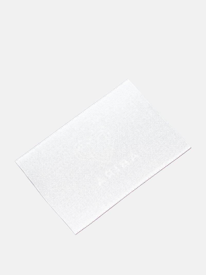 Stoff-Etikettten Rückseite