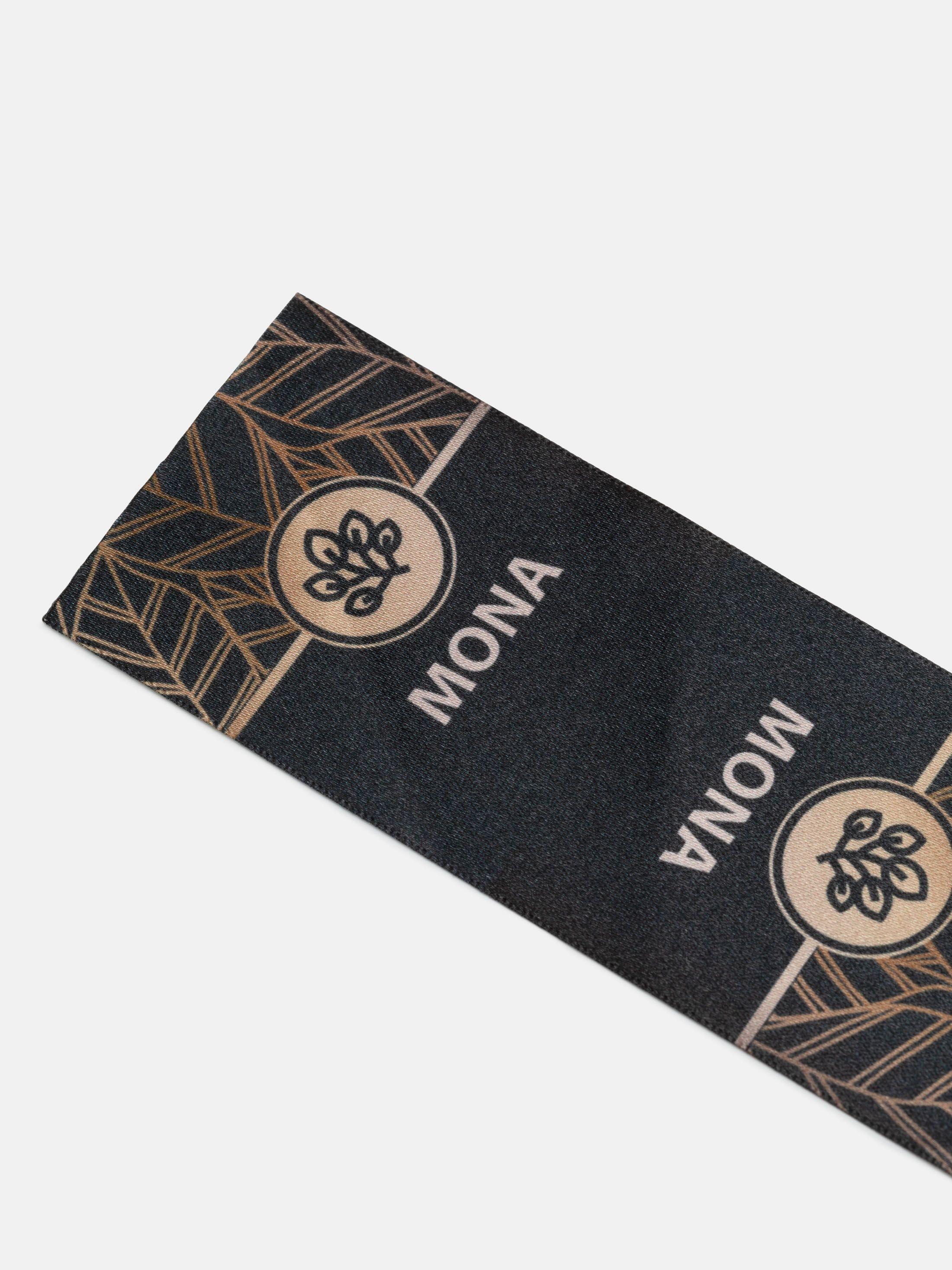 custom fabric logo labels mona