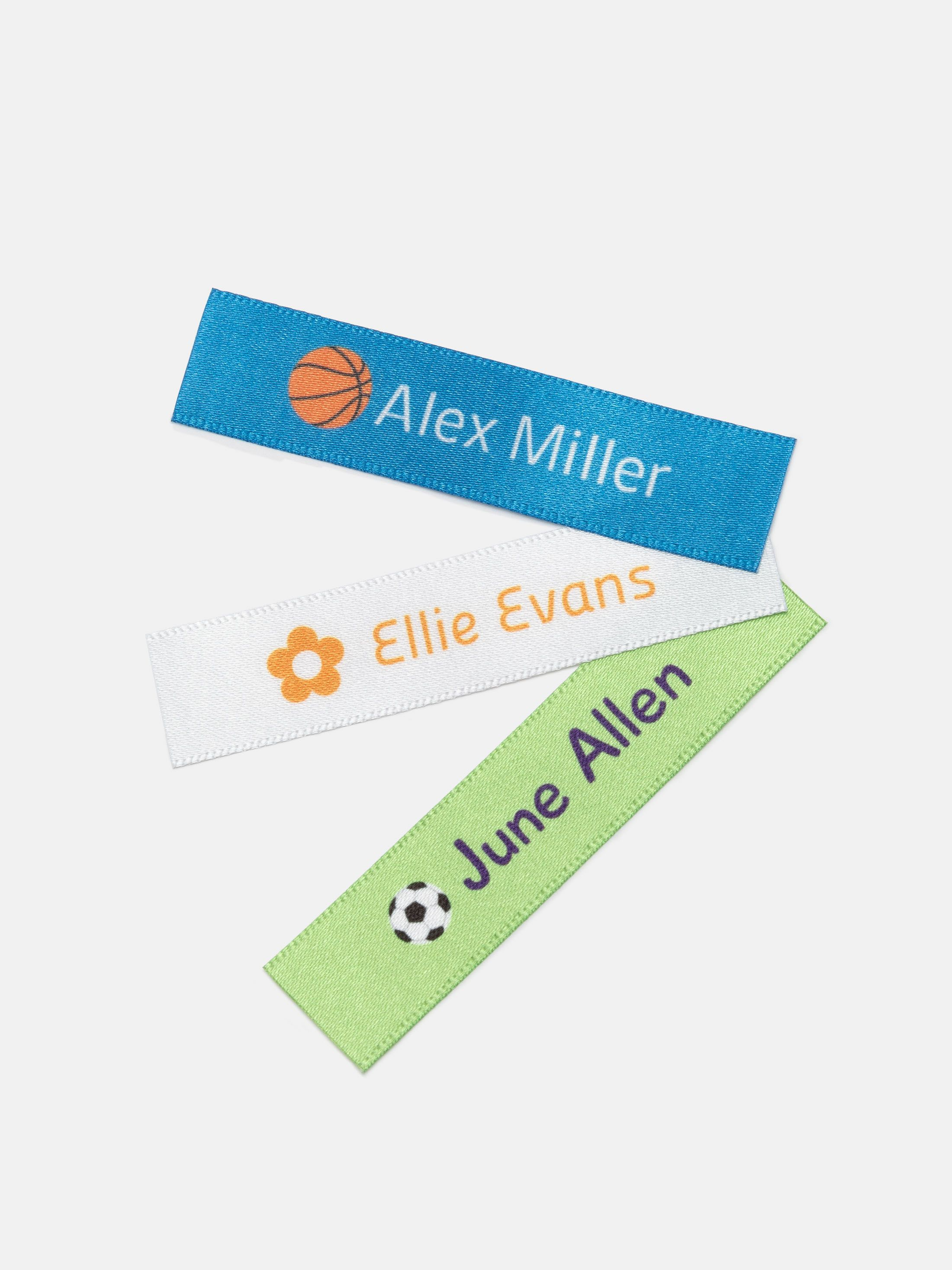 custom fabric name tags colors
