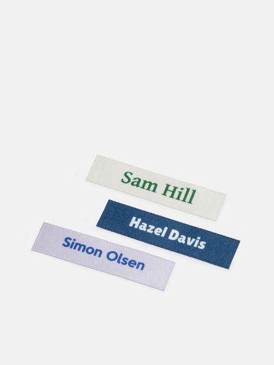 personliga namnbrickor