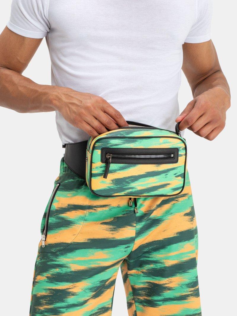 custom bum bag with zip