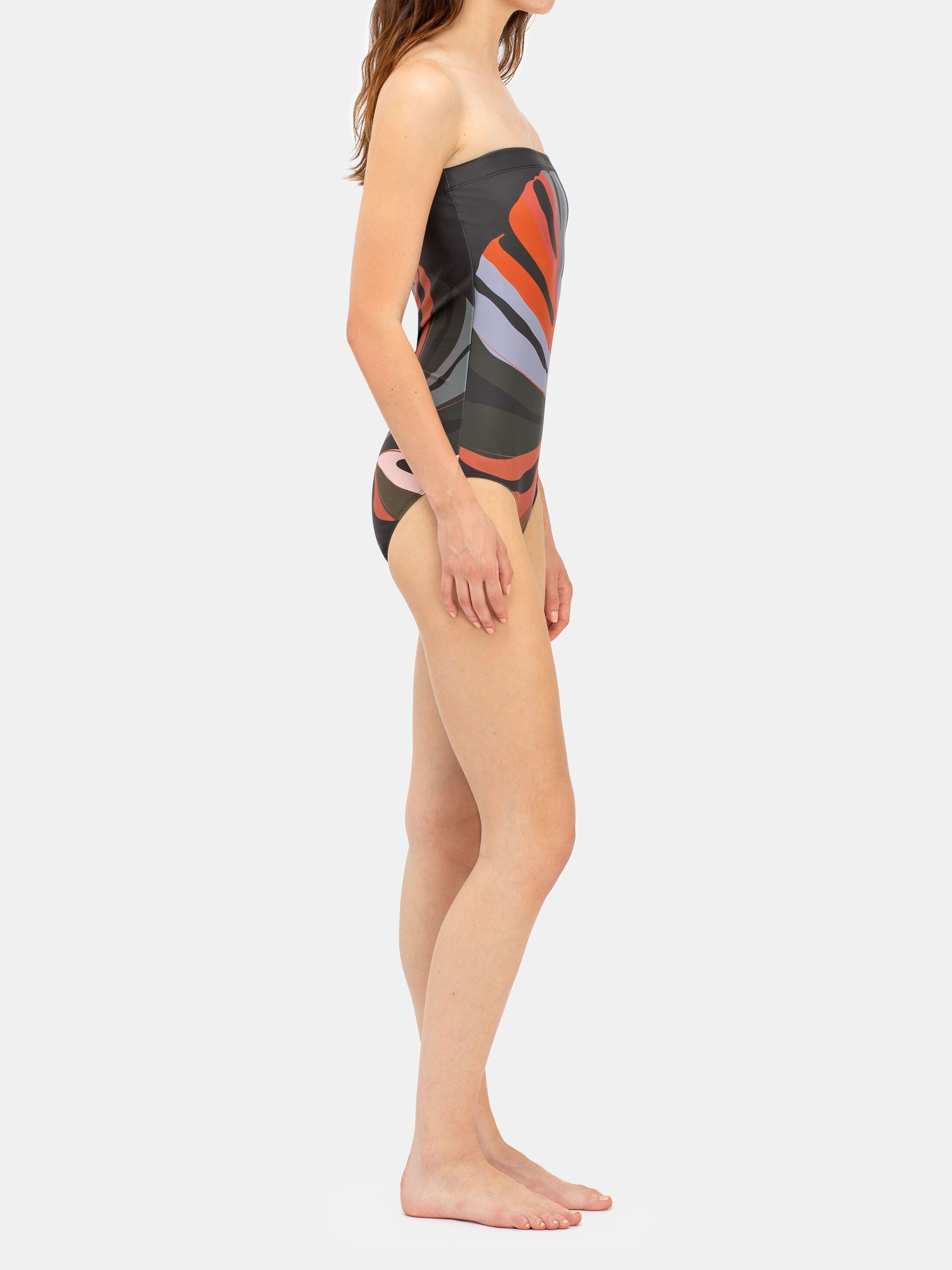 Customised Strapless swimsuit