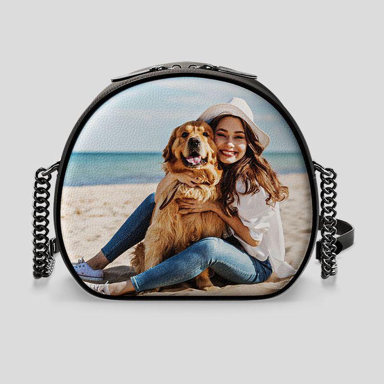 personalised circle bag dog