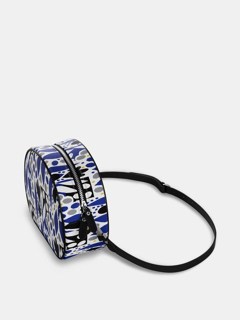 custom circle bag leather strap