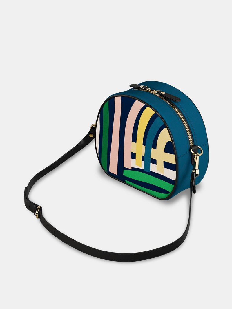 custom round crossbody bag