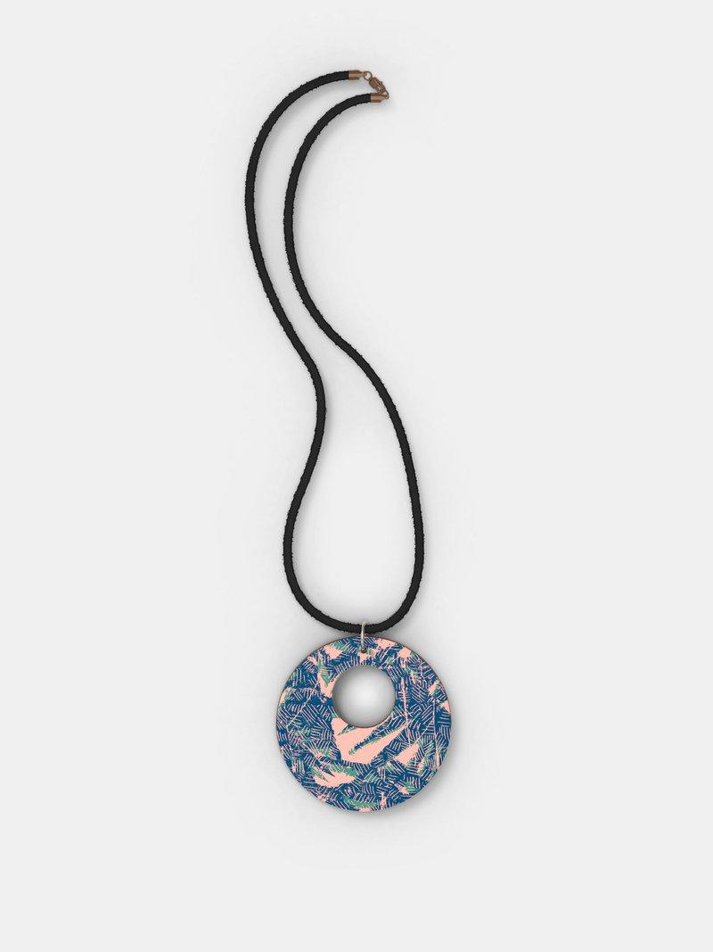 custom wood pendant necklace