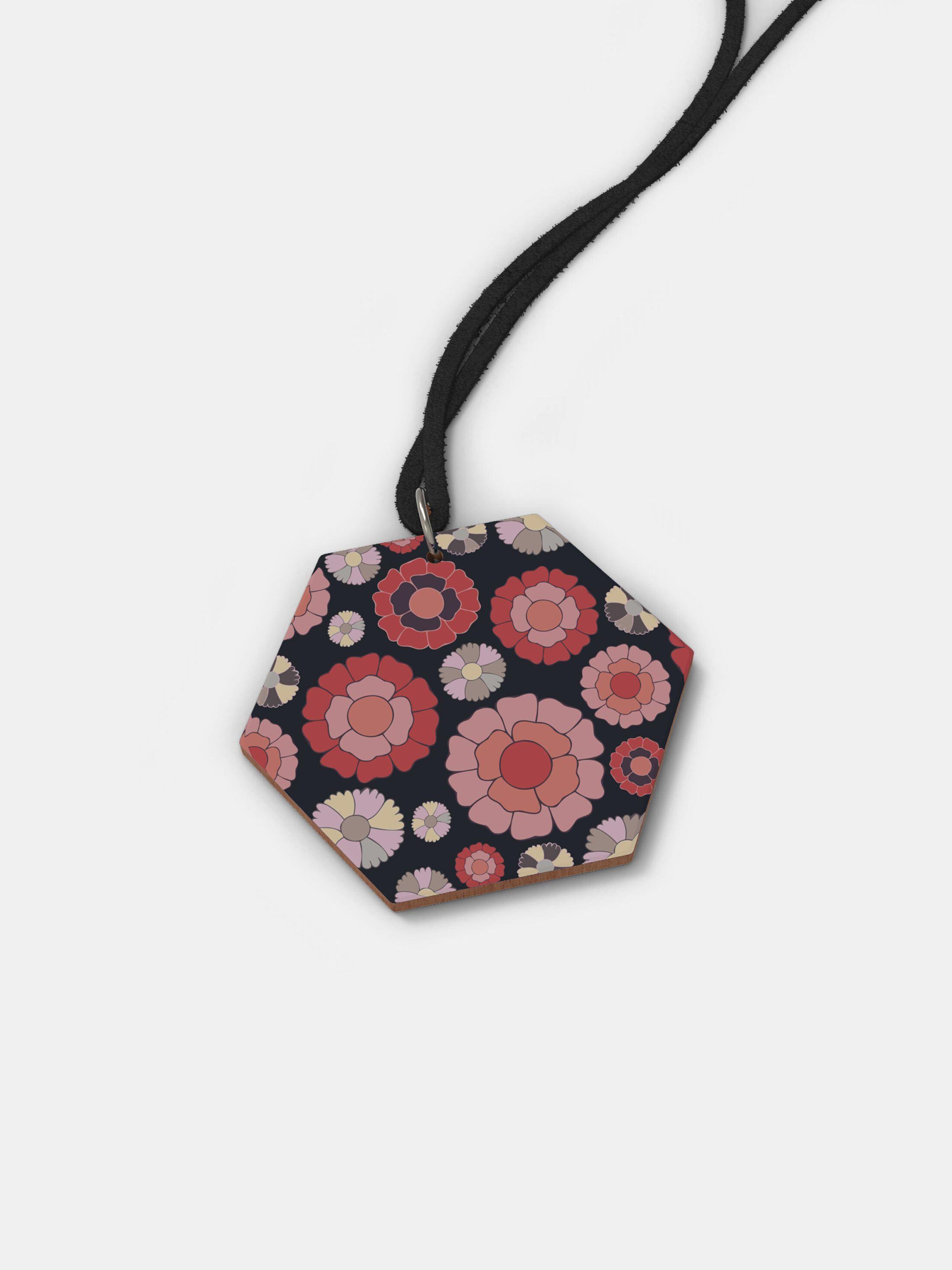 custom printed wood necklace