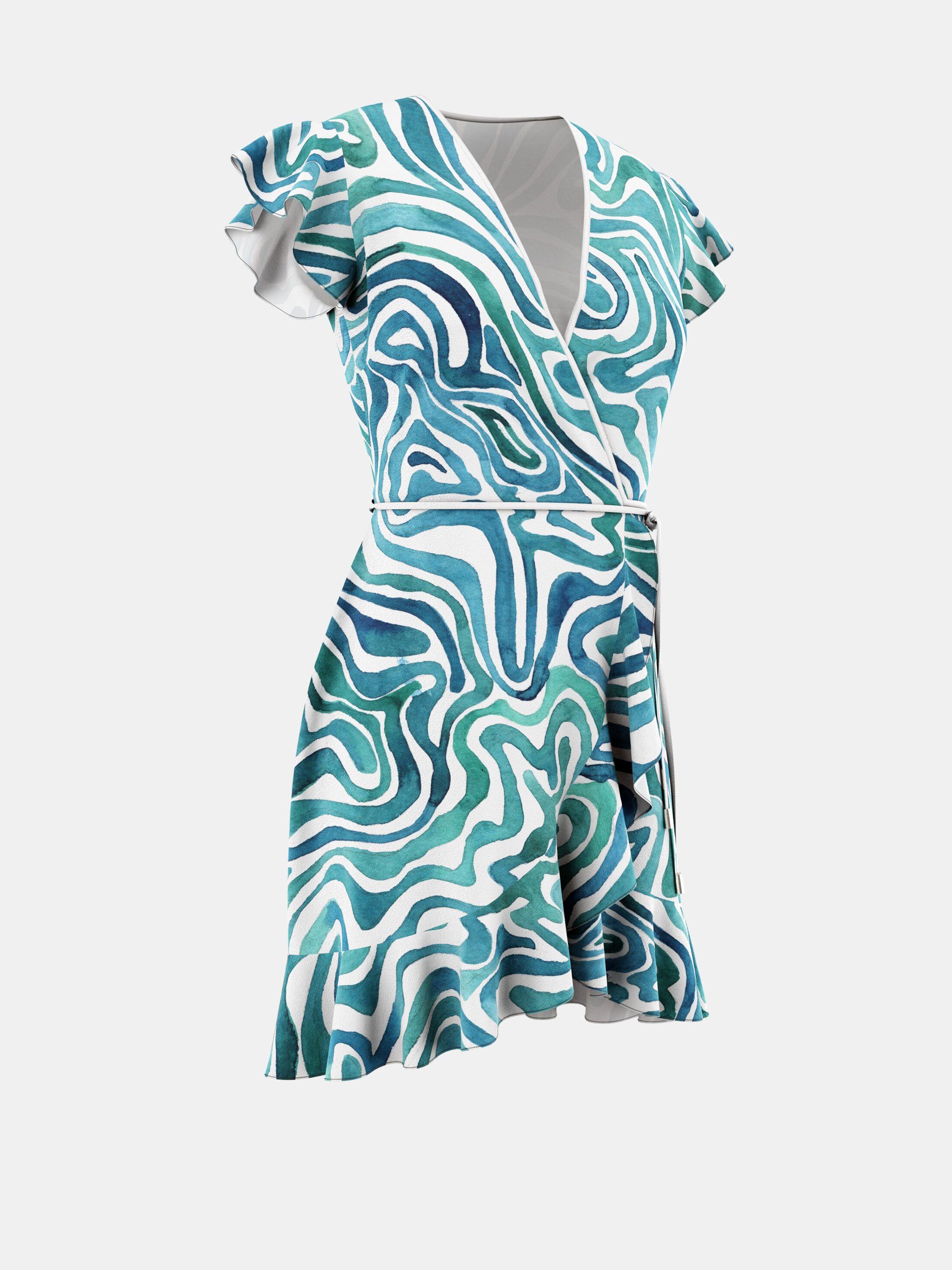 フレアラップドレス オリジナル製作