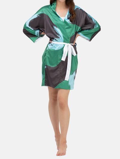 Personalisierter Morgenmantel im Kimono-Style