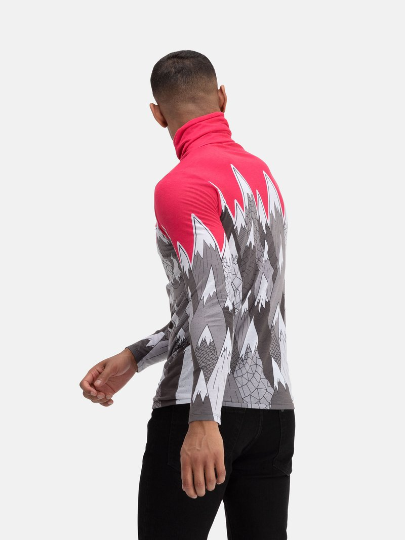 custom mens slim fit roll neck