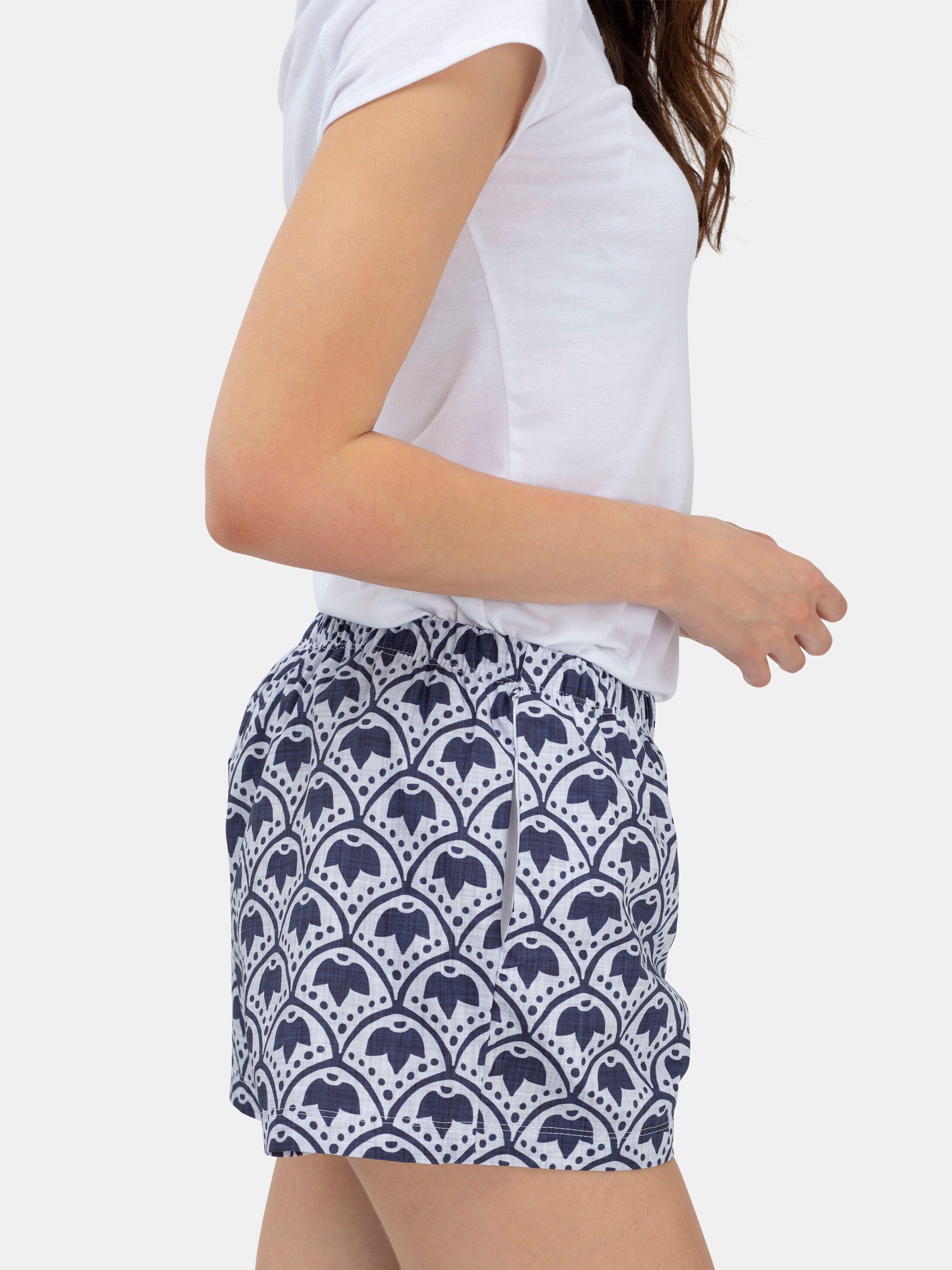 ladies pyjama shorts detail