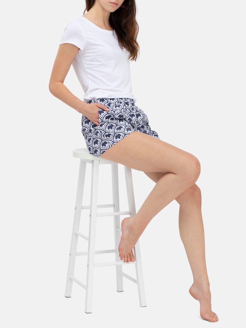 custom womens pyjama shorts