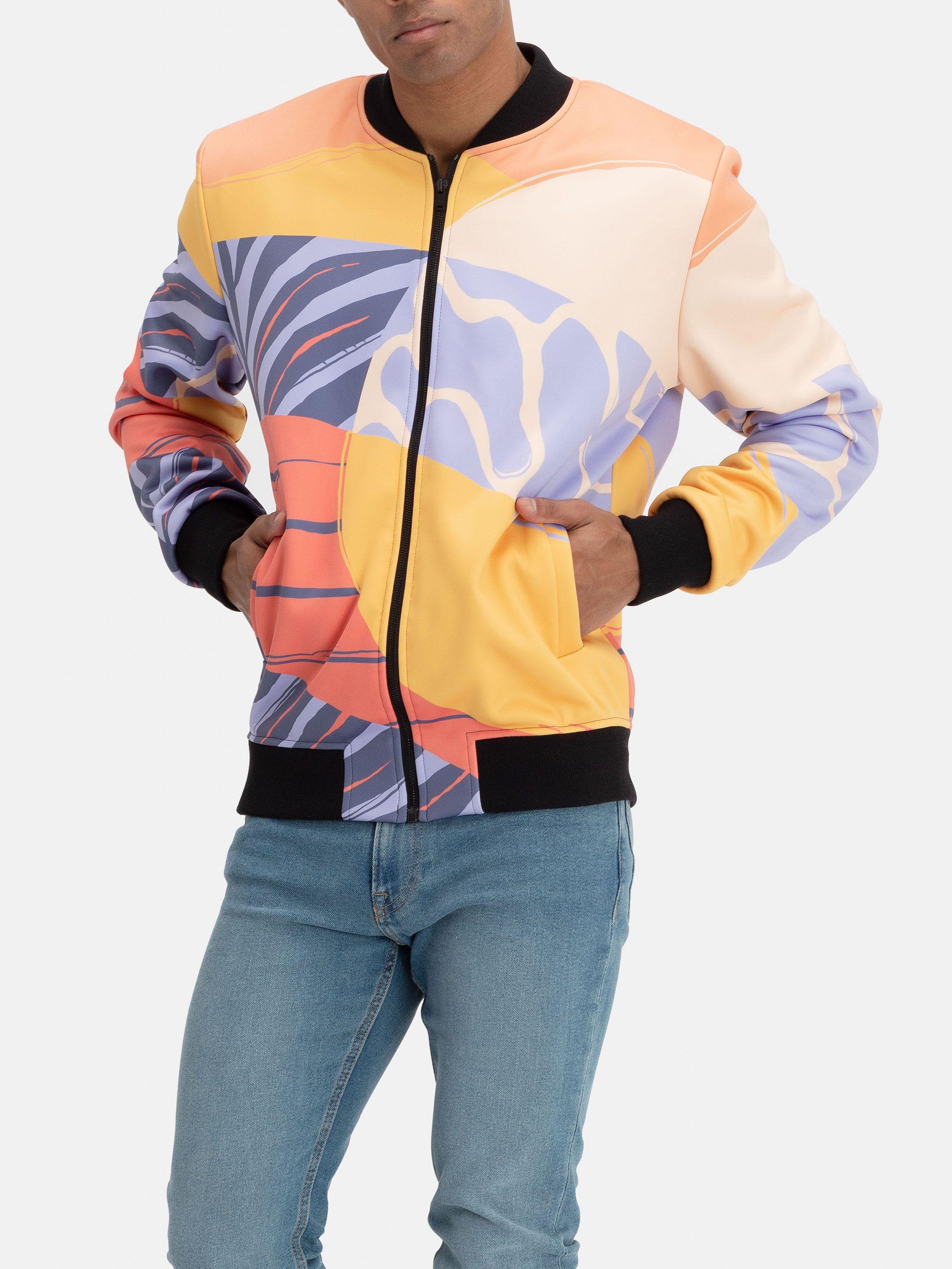 printable bomber jacket zip detail