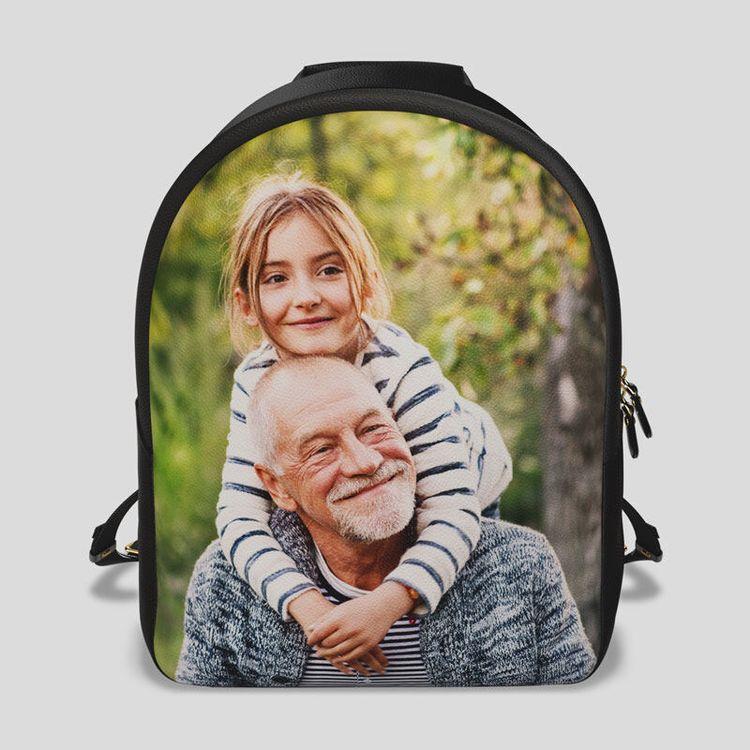 custom leather backpack photo