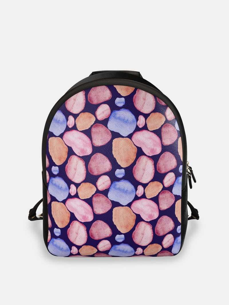 custom leather backpack pink rocks