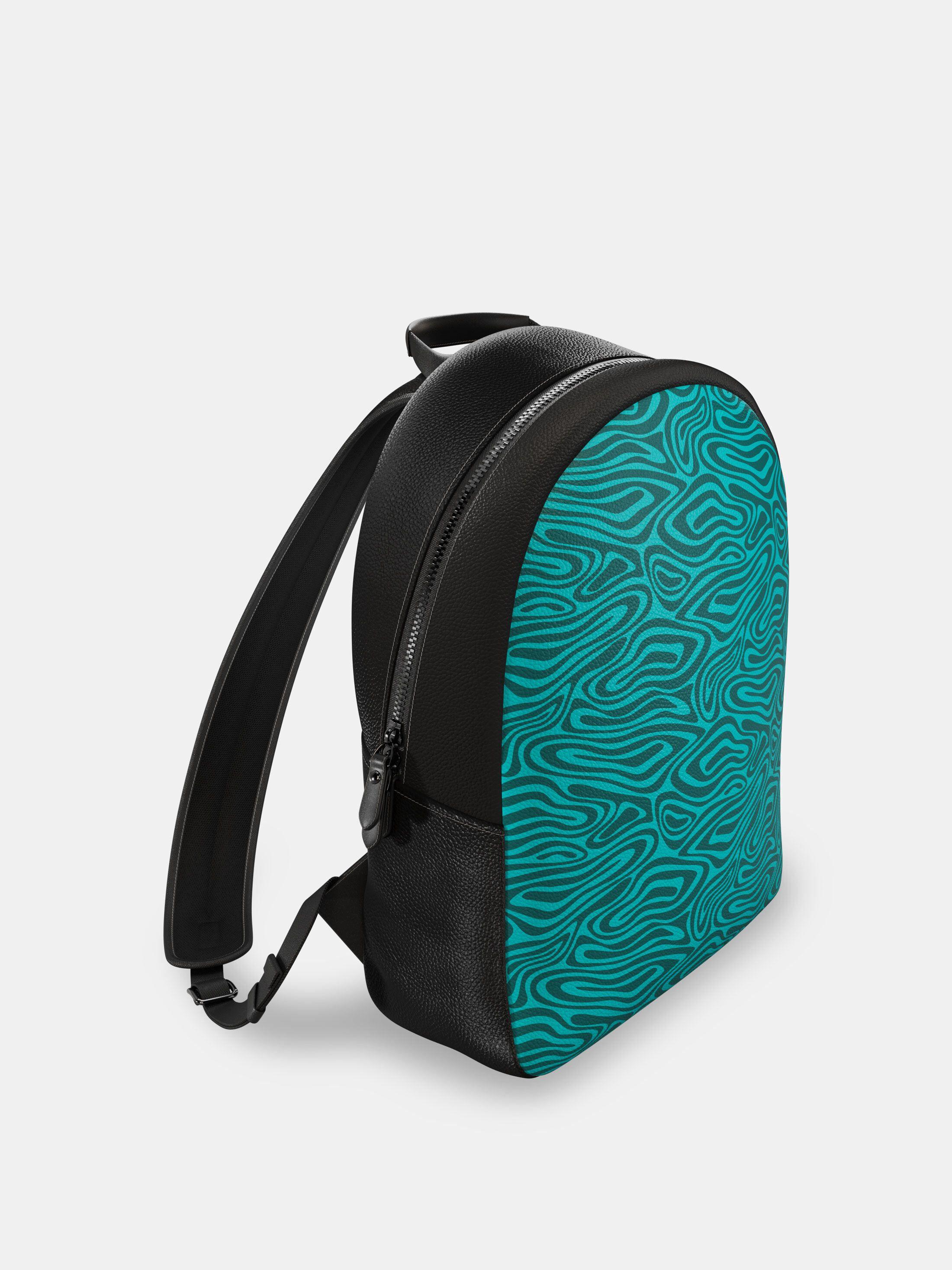 design your own rucksack green print