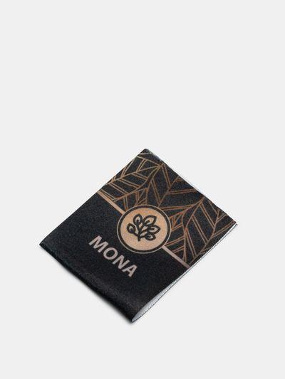 custom printed folded fabric labels