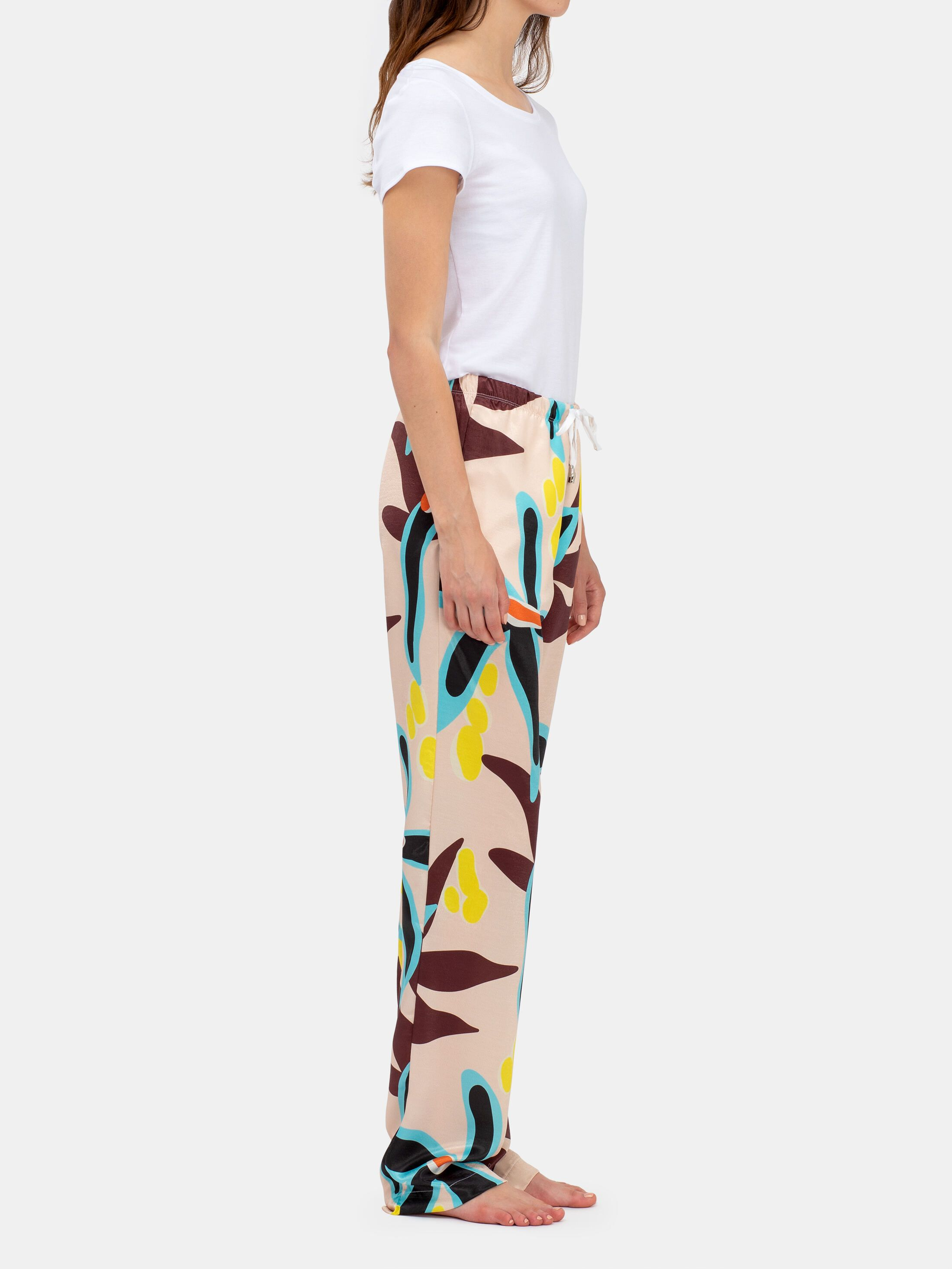 ladies drawstring trousers