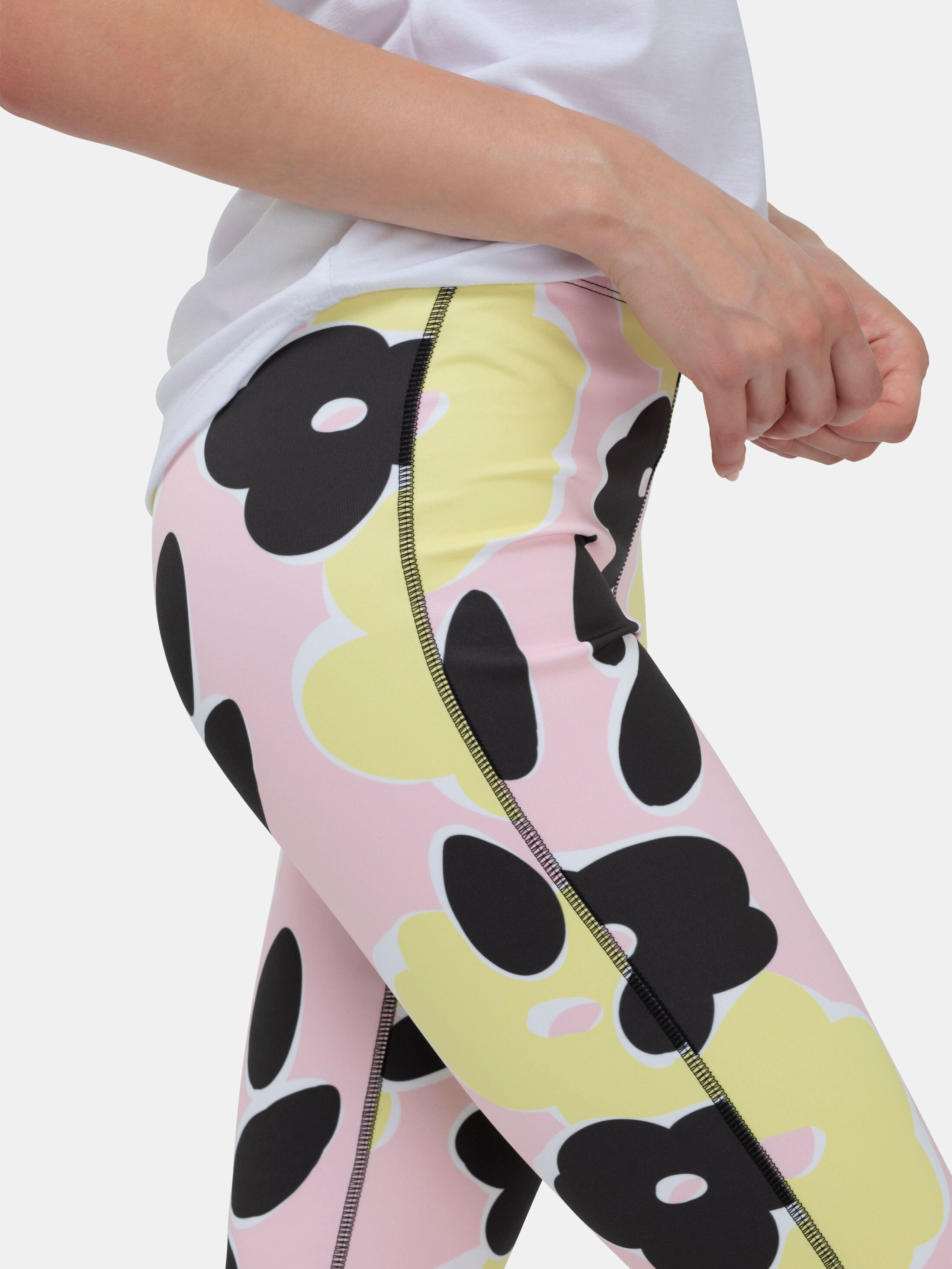 bedrukte high waist velours legging
