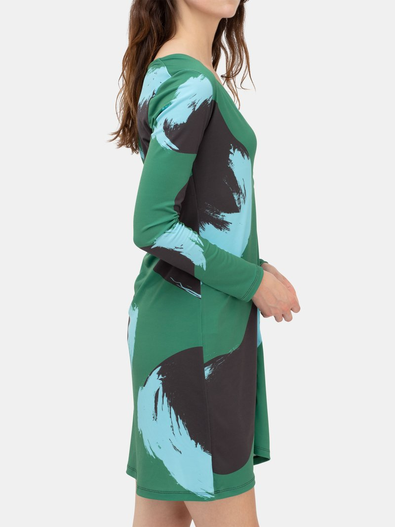 custom printed button through dress