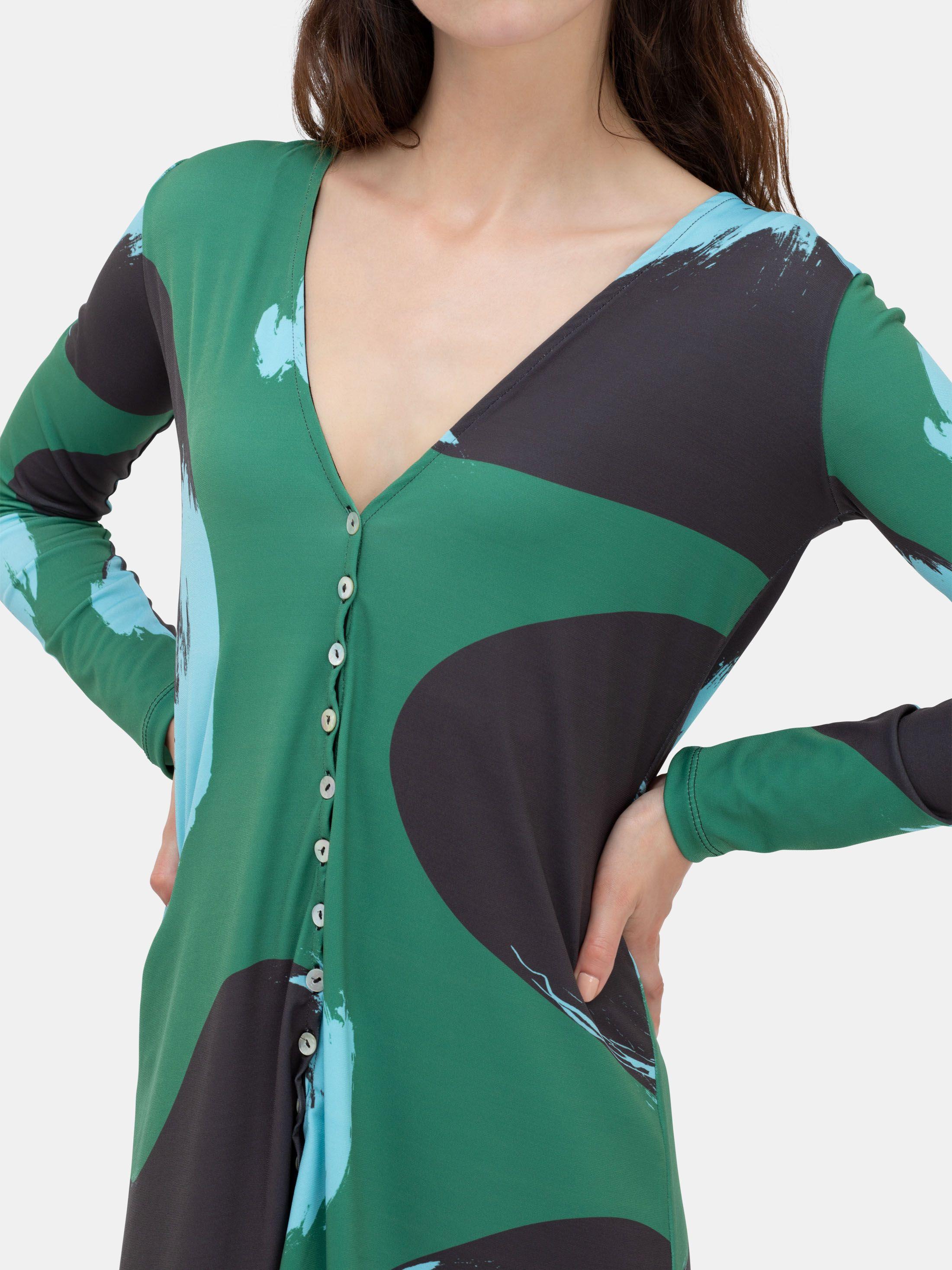 Personlig klänning med knappar