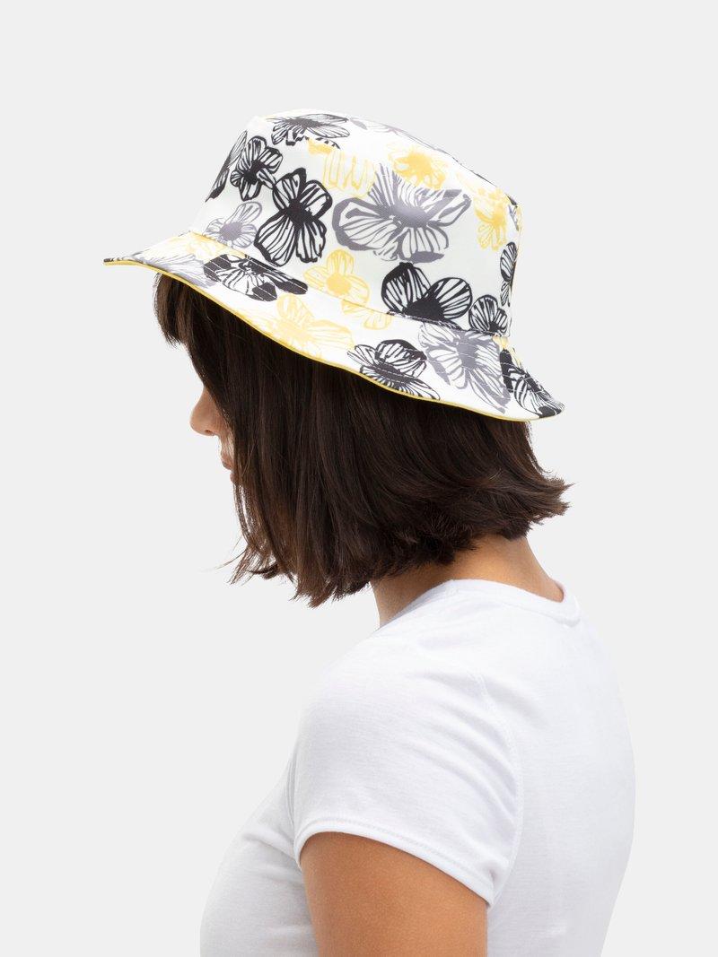 Bucket hat wide brim reversible