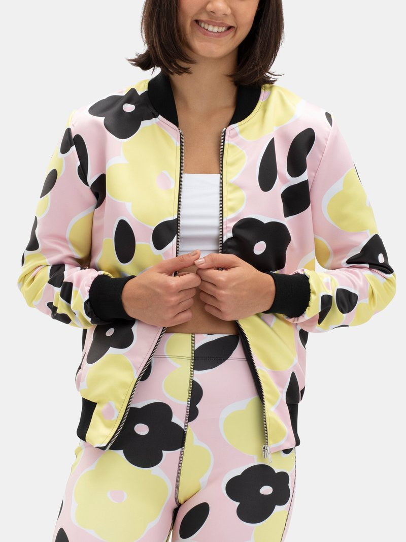 women's sleeve bomber jacket