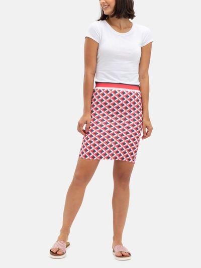 custom printed pencil skirt