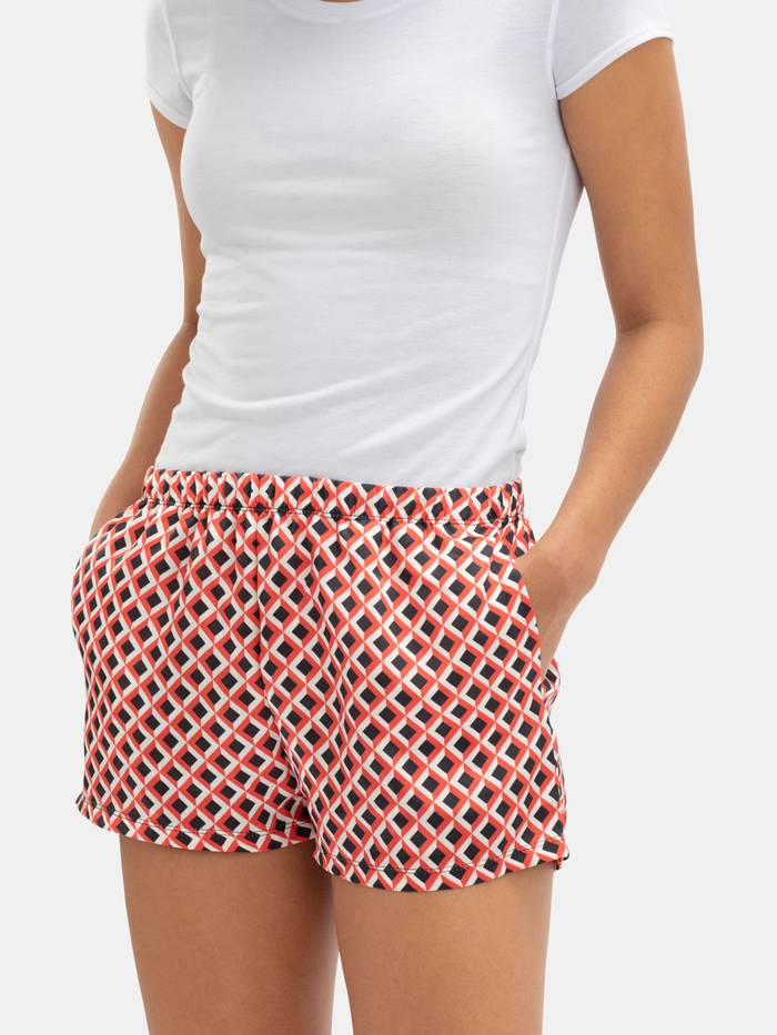 custom silk pyjama shorts