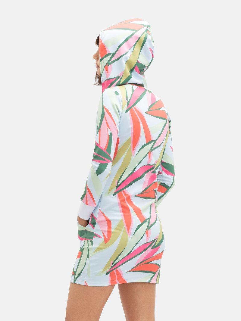printed hoodie dress
