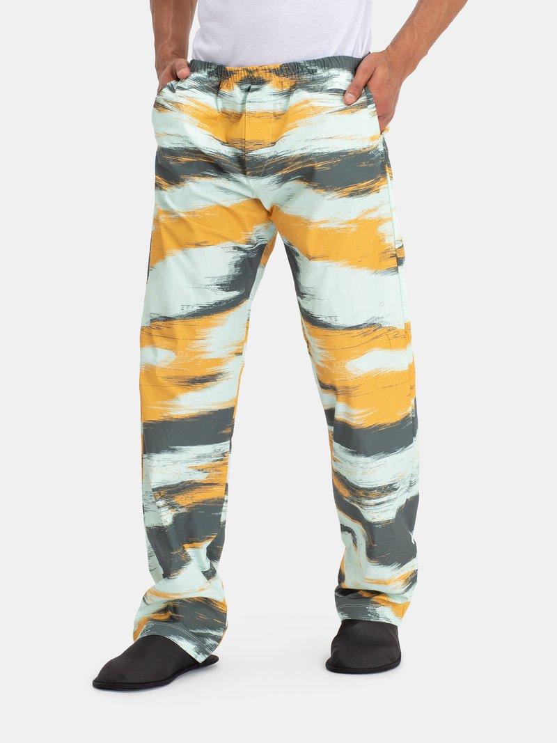 男性用パジャマボトムス デザイン印刷