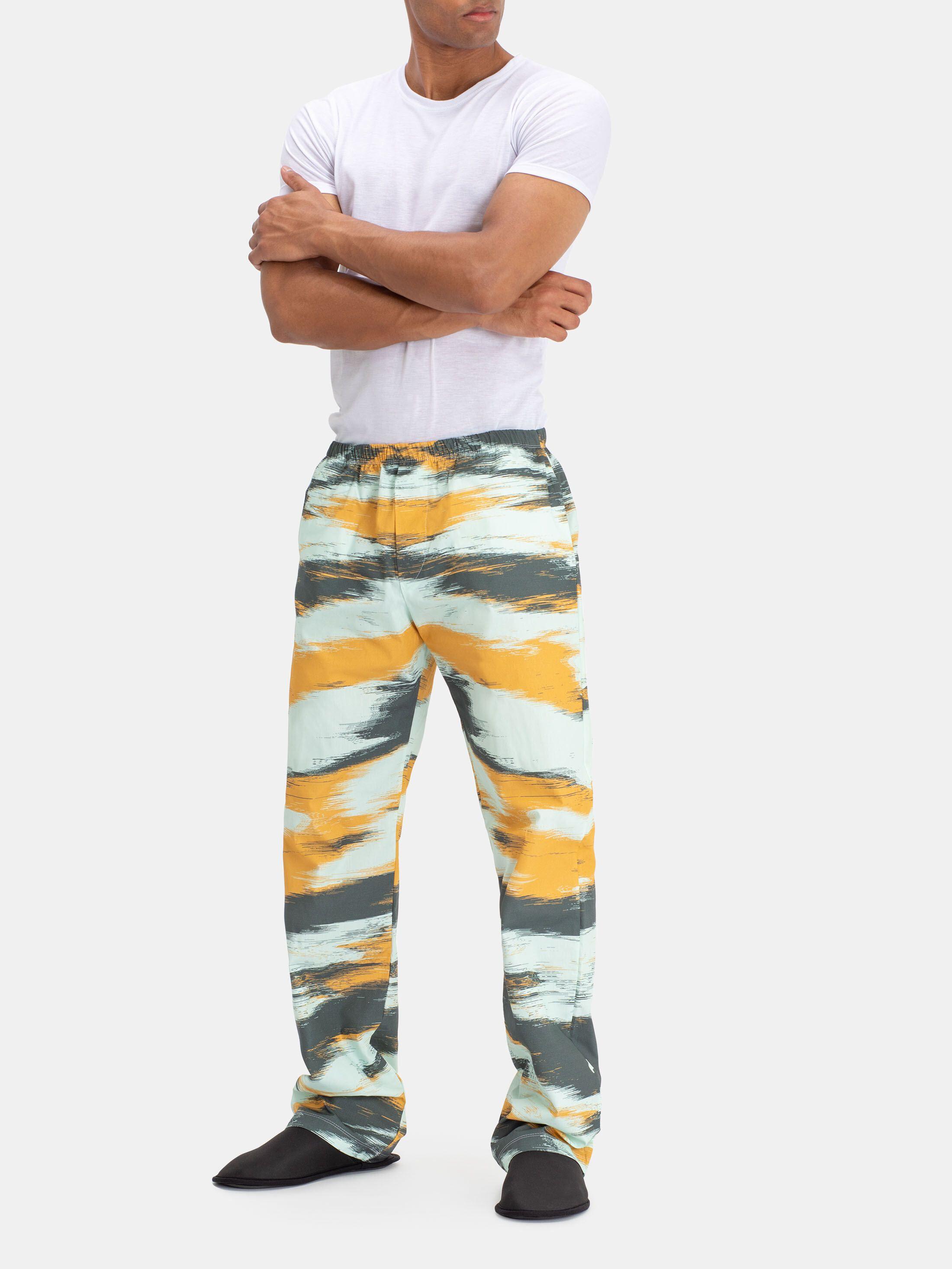 メンズパジャマズボンにデザイン印刷