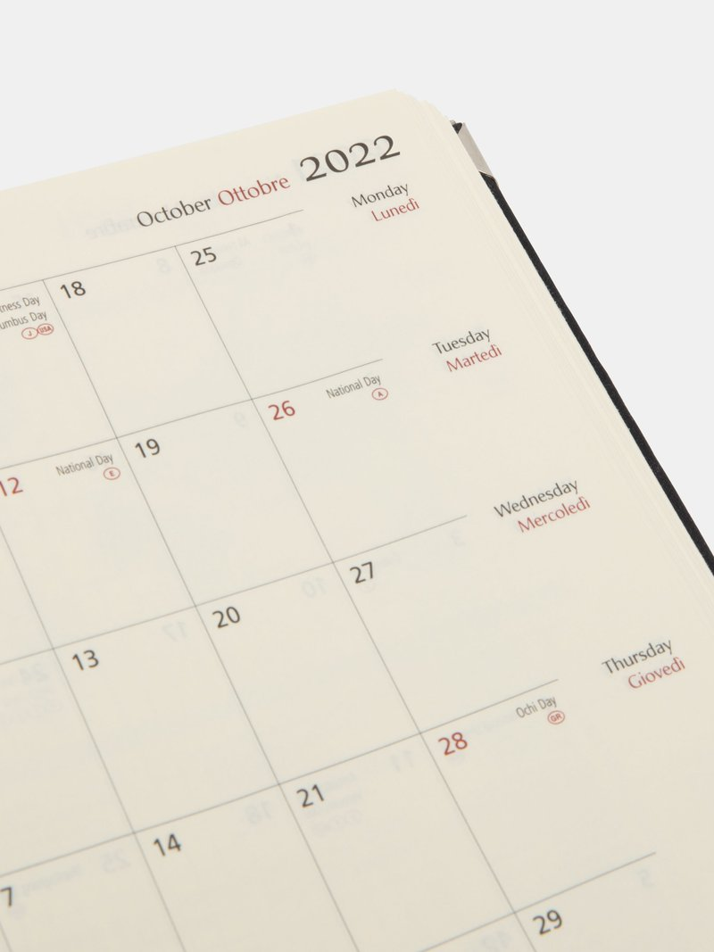 printed diary