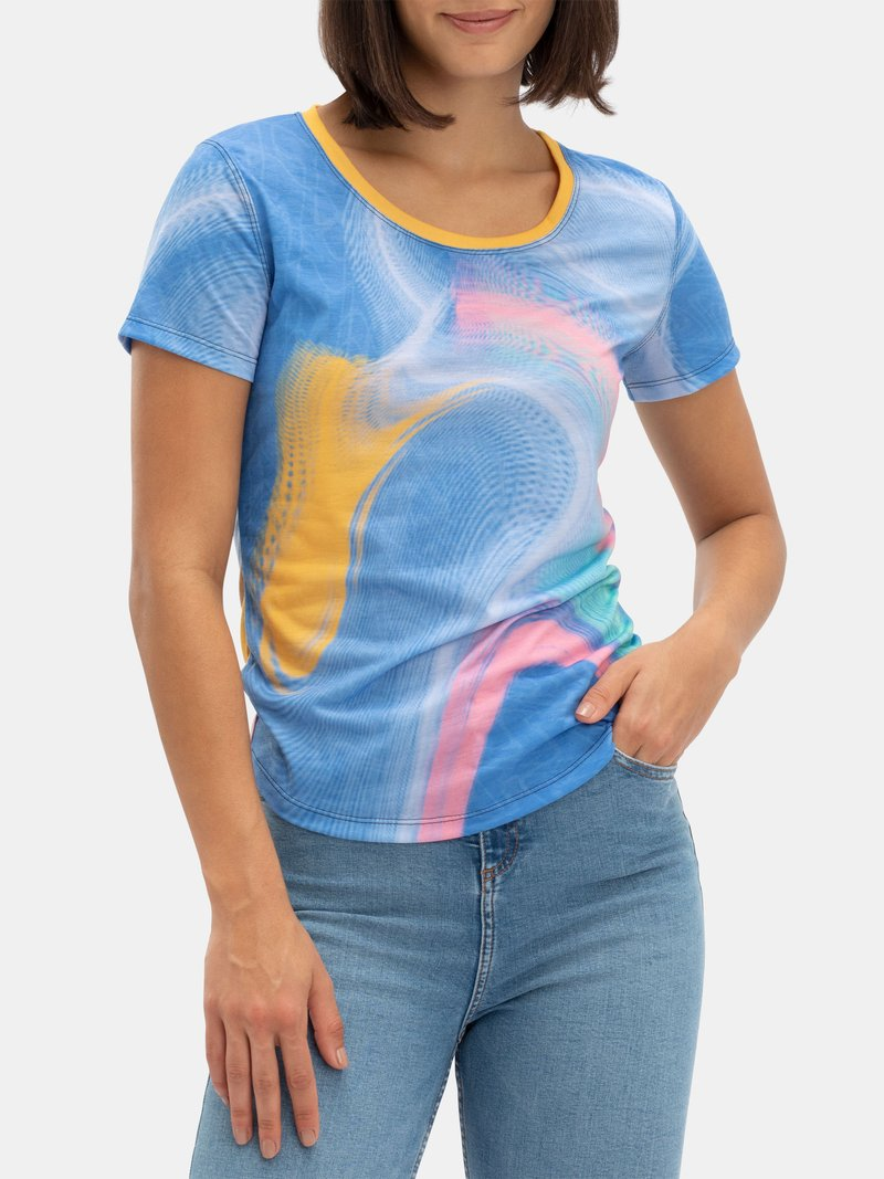 printed cotton jersey t shirt