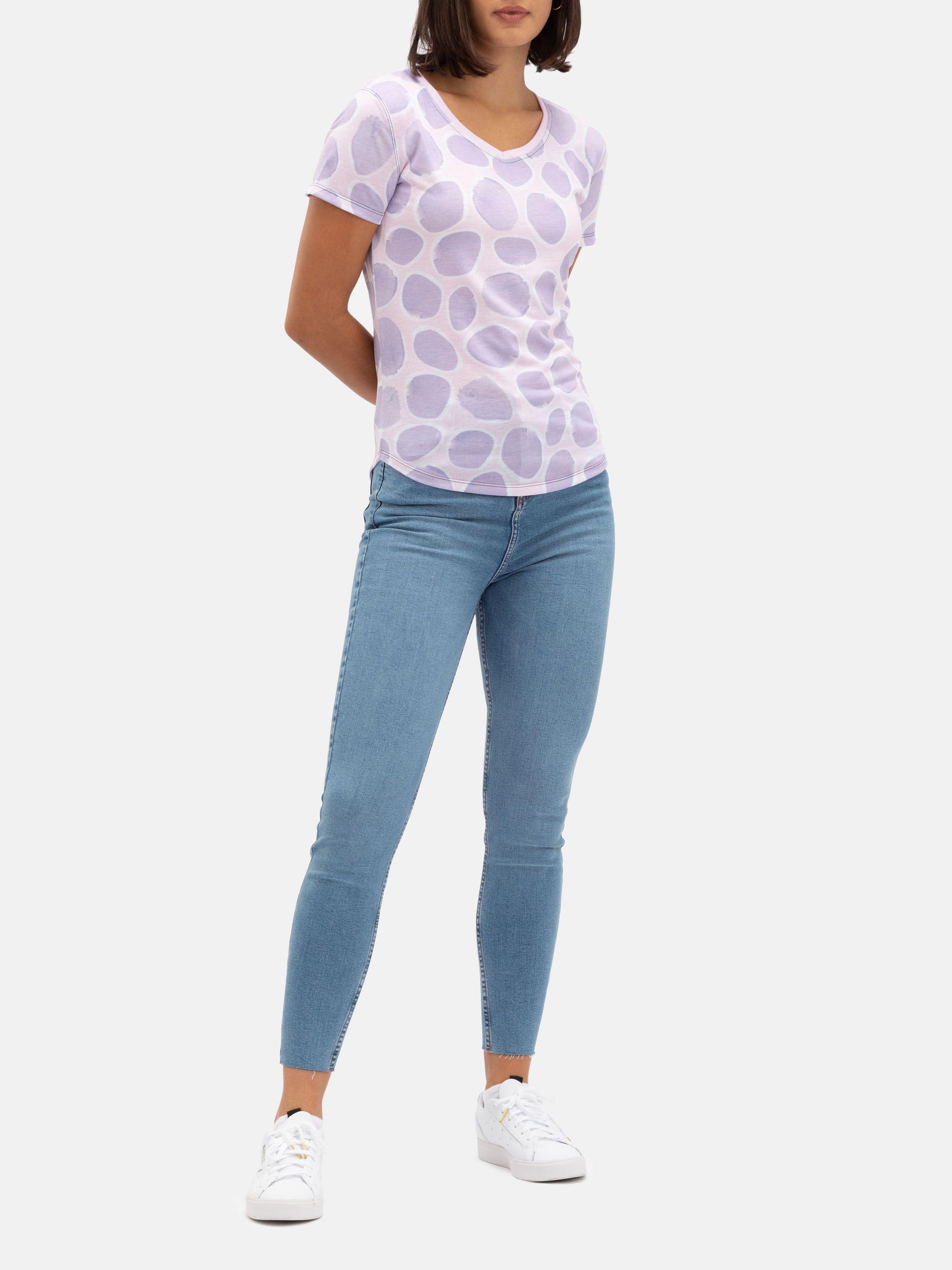 Womens V-Neck Printed T Shirts