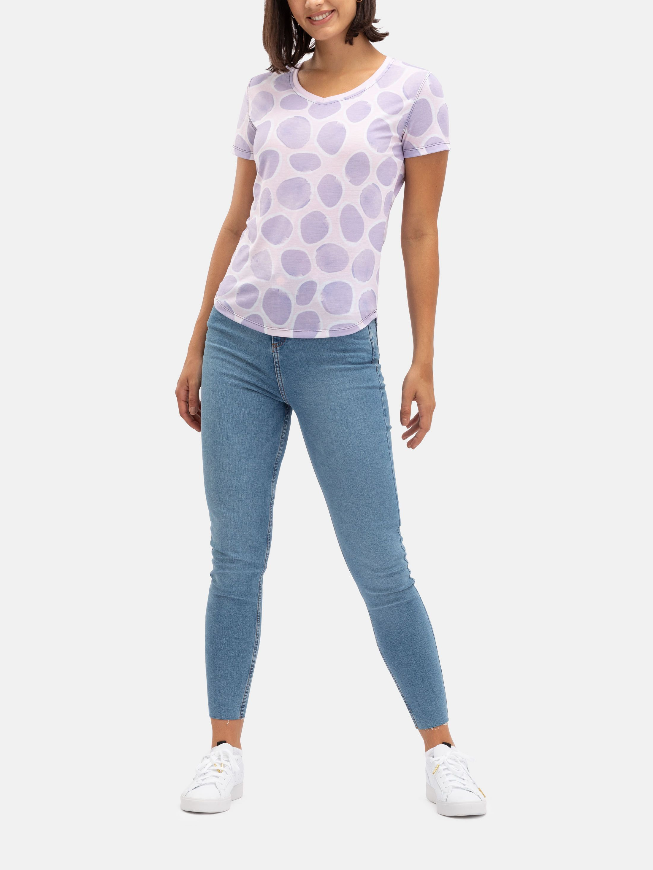 Womens Custom V-Neck Printed T Shirts