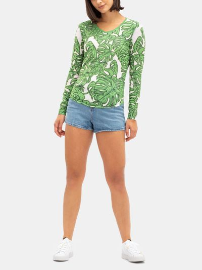eco tencel cotton t shirt long sleeve